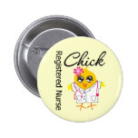 Registered Nurse Chick v2 Pinback Button