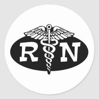 Registered Nurse Classic Round Sticker
