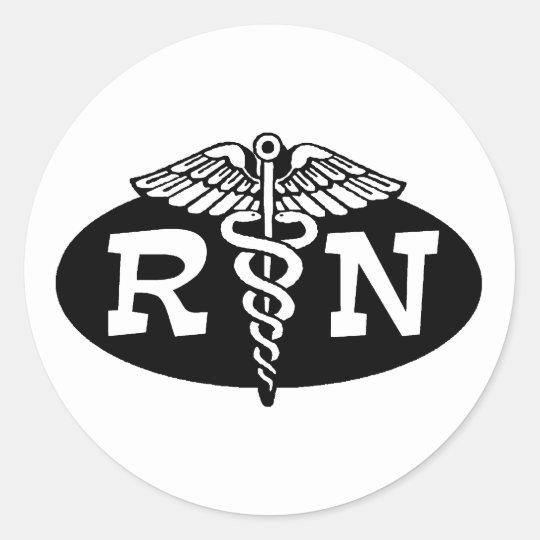 Registered Nurse Classic Round Sticker