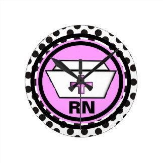 Registered Nurse Clock Nursing Cap Design