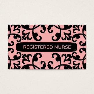 Registered Nurse Damask Business Card