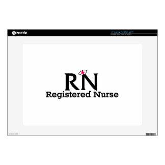 """Registered Nurse Decal For 15"""" Laptop"""