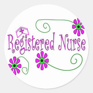 Registered Nurse gifts-- Classic Round Sticker
