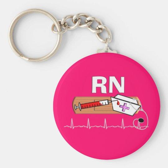 """Registered Nurse Gifts """"RN"""" Keychain"""