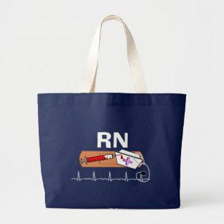 """Registered Nurse Gifts """"RN"""" Large Tote Bag"""