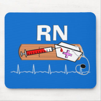 """Registered Nurse Gifts """"RN"""" Mouse Pad"""