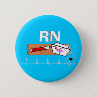 "Registered Nurse Gifts ""RN"" Pinback Button"