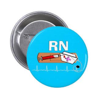 "Registered Nurse Gifts ""RN"" Pinback Button"