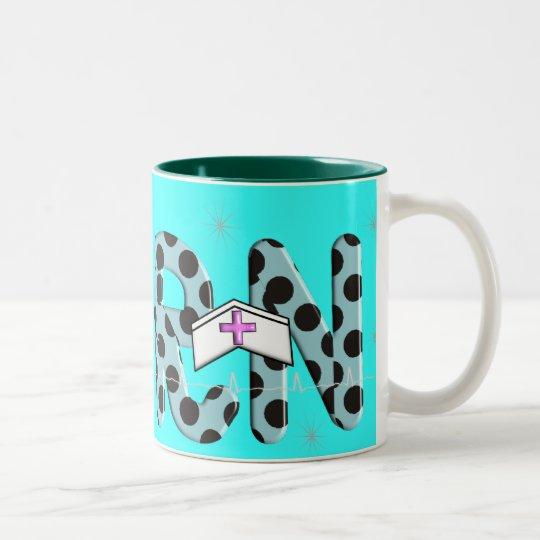 "Registered Nurse Gifts ""RN"" Two-Tone Coffee Mug"