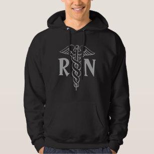 Registered Nurse Hoodie Rn With Caduceus Symbol