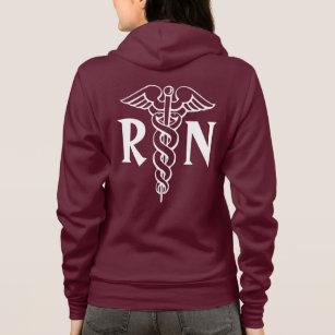 Registered Nurse Hoodie With Caduceus Symbol