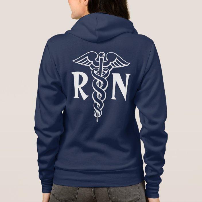 Registered Nurse Hoodie With Caduceus Symbol Zazzle Com