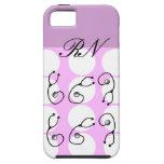 Registered Nurse iPhone 5 Case Pink Polka Dots