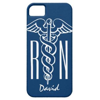 Registered Nurse iPhone 5 cover | Blue RN caduceus