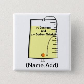 Registered Nurse IV Bag Design Pinback Button