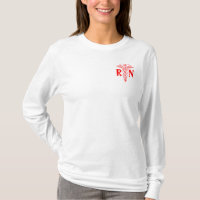 Registered nurse jersey hoodie | RN caduceus