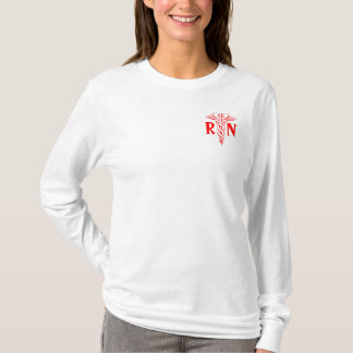 Registered nurse jersey hoodie   RN caduceus