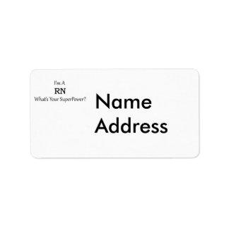 Registered Nurse Label