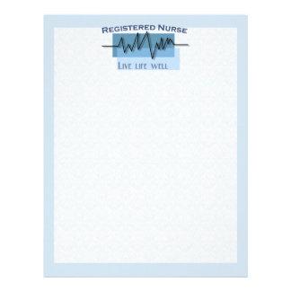Registered Nurse - Live Life Well Letterhead Template