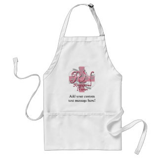 Registered Nurse, Pink Cross Swirls Aprons