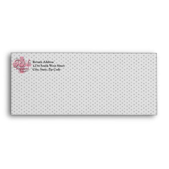 Registered Nurse, Pink Cross Swirls Envelope
