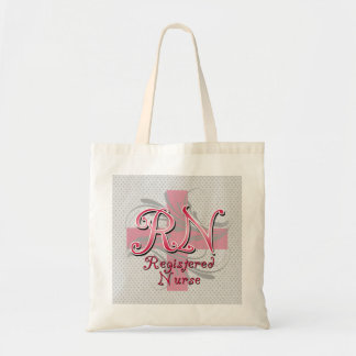 Registered Nurse, Pink Cross Swirls Tote Bag