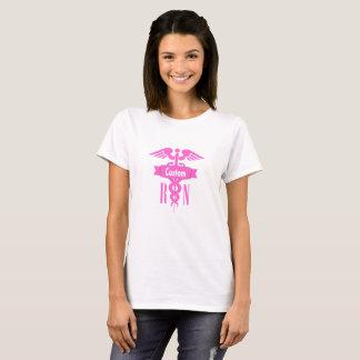Registered Nurse Pink Medical Cross Custom T-shirt