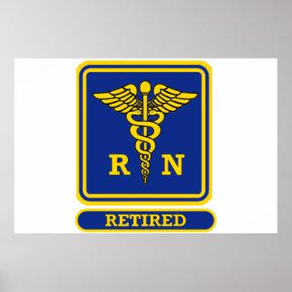 Registered Nurse Retired Poster