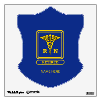Registered Nurse Retired Wall Decal