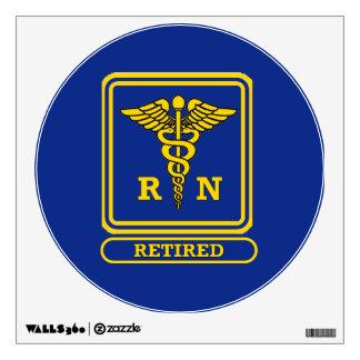 Registered Nurse Retired Wall Sticker