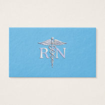 Registered Nurse RN Caduceus on Baby Blue