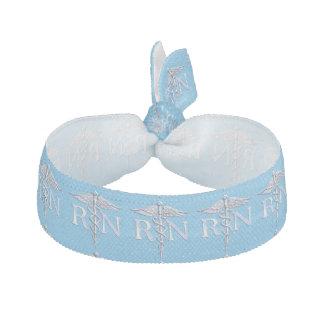 Registered Nurse RN Caduceus on Baby Blue Decor Elastic Hair Tie