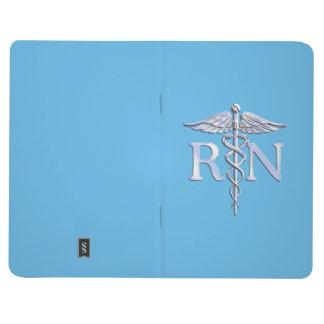 Registered Nurse RN Caduceus on Baby Blue Journal