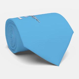 Registered Nurse RN Caduceus on Baby Blue Neck Tie