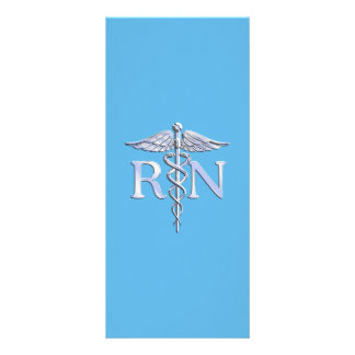 Registered Nurse RN Caduceus on Baby Blue Rack Card
