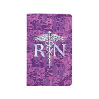 Registered Nurse RN Caduceus on Fuchsia Camo Journal