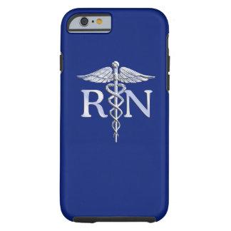 Registered Nurse RN Caduceus on Navy Blue Tough iPhone 6 Case