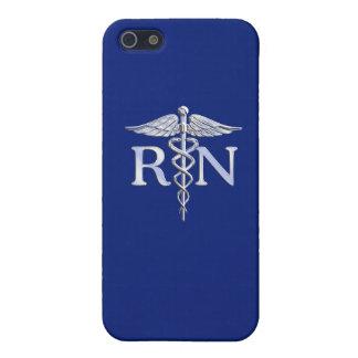 Registered Nurse RN Caduceus on Navy Blue iPhone 5 Cover
