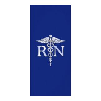 Registered Nurse RN Caduceus on Navy Blue Rack Card