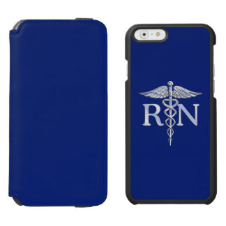 Registered Nurse RN Caduceus on Navy Blue Incipio Watson™ iPhone 6 Wallet Case