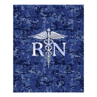 Registered Nurse RN Caduceus on Navy Camo Flyer