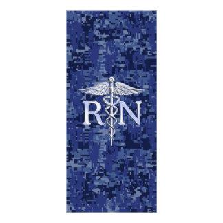Registered Nurse RN Caduceus on Navy Camo Rack Card