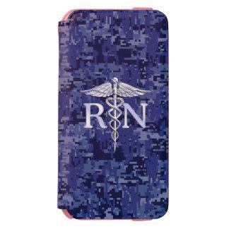 Registered Nurse RN Caduceus on Navy Camo Incipio Watson™ iPhone 6 Wallet Case
