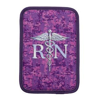 Registered Nurse RN Caduceus on Pink Camo Sleeve For iPad Mini
