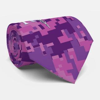Registered Nurse RN Caduceus on Pink Camo Neck Tie