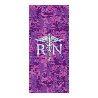 Registered Nurse RN Caduceus on Pink Camo Rack Card