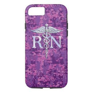 Registered Nurse RN Caduceus on Pink Camouflage iPhone 8/7 Case