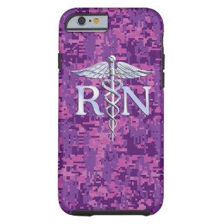 Registered Nurse RN Caduceus on Pink Camouflage Tough iPhone 6 Case