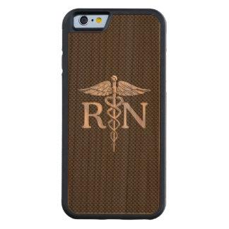 Registered Nurse RN Caduceus Snakes Carbon Carved® Cherry iPhone 6 Bumper