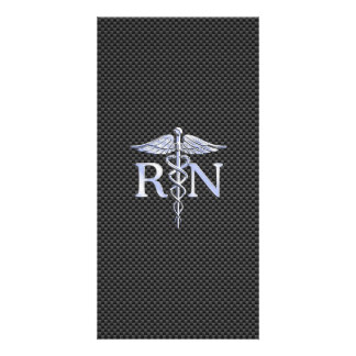 Registered Nurse RN Caduceus Snakes Carbon Photo Card